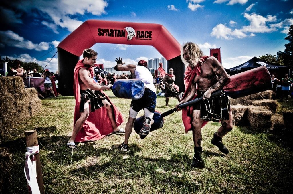 gladiators at spartanrace finish